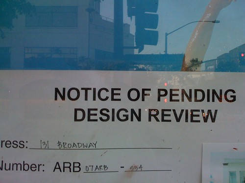Notice of pending design review | by Sam Felder