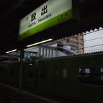 201系(黄緑) 試運転@放出