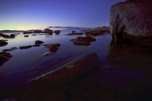 california longexposure travel nature sunrise landscape rocks laketahoe frigid kingsbeach wispyclouds canon1022mm