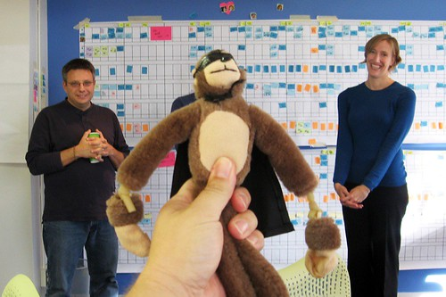 """The flying monkey at the PV """"Stand Up"""" meeting"""