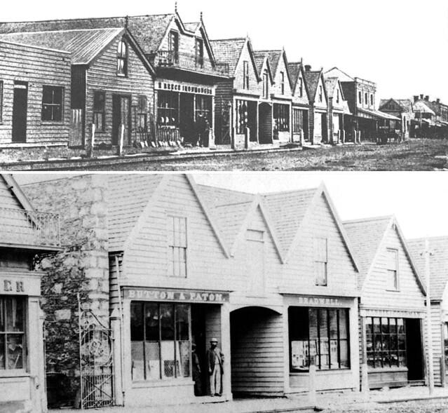 Colombo Steet, Christchurch, circa 1865