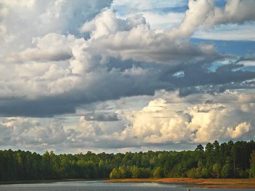 clouds landscape nc hill northcarolina chapel aswpix canecreekresevoir