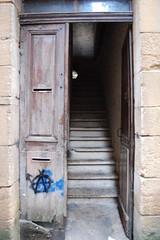 Doorway with Anarchy symbol