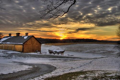 winter sunset canon hdr 30d photomatix views100