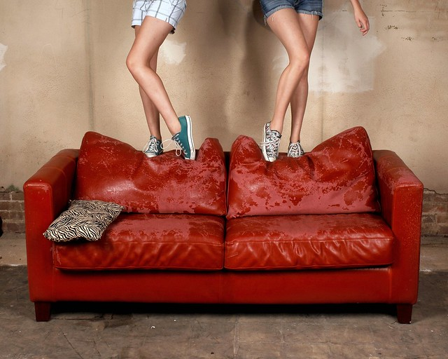 Bench Monday: Red Sofa Edition