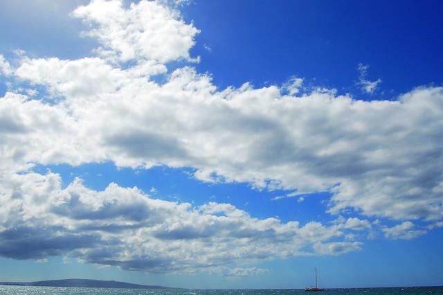 Blue sky over Maui