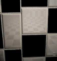 checkerboard tile in the bathroom | by zen