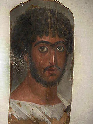 Mummy Portrait Roman Period Faiyum Region Egypt 170 180 Ce