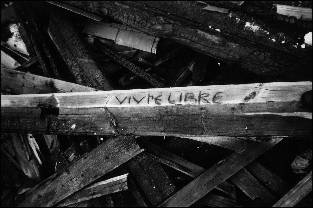 Wood words | Taken 10 years ago in a disused train station