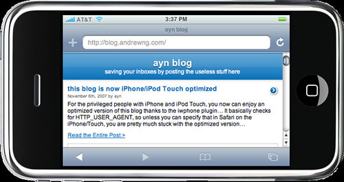 iphone optimized | by @ayn