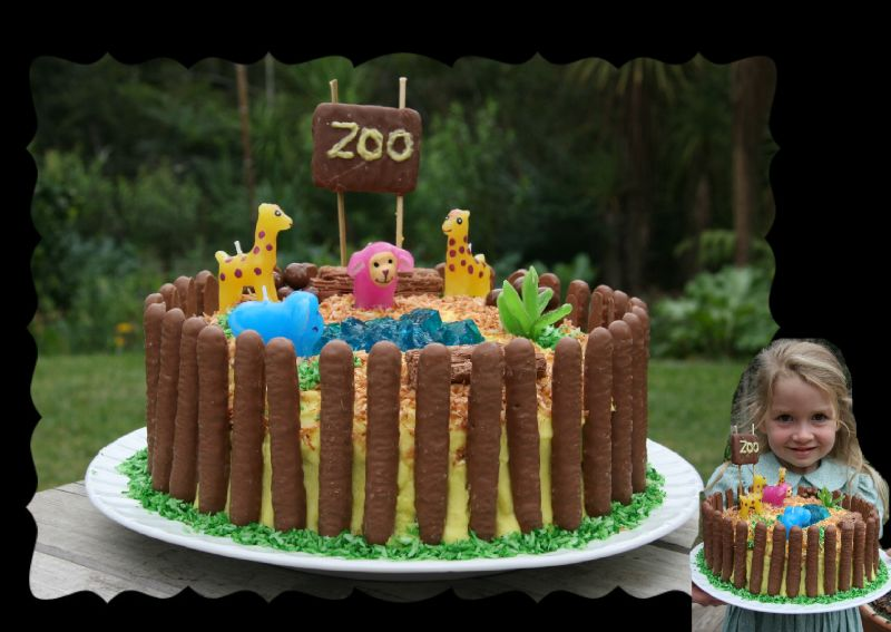 Admirable T4S Zoo Birthday Cake 2008 Kiwi Family Flickr Funny Birthday Cards Online Amentibdeldamsfinfo