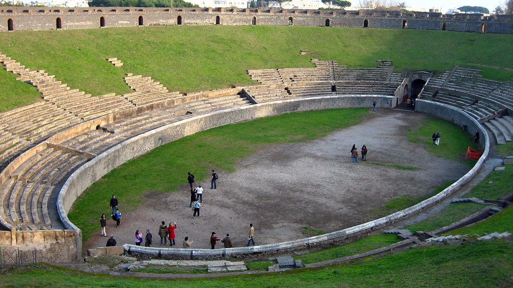 Pompeii Amphitheatre From Wikipedia Pompeii Is A Ruined