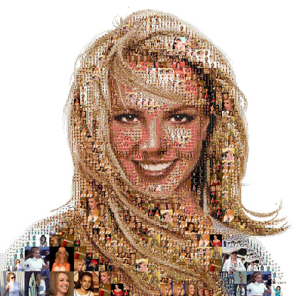 портрет из множества фотографий лунки
