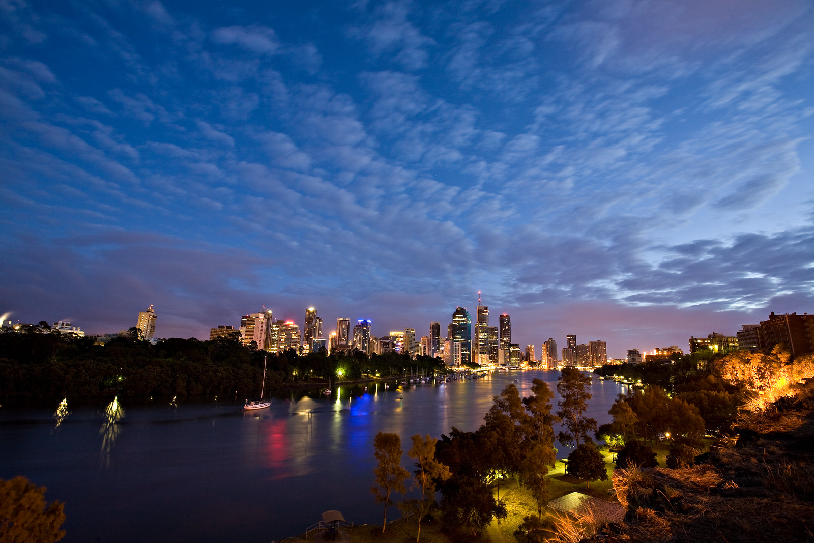 Dawn over Brisbane City