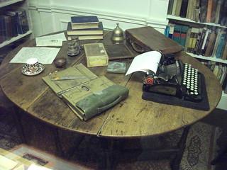 Joseph Conrad's writing desk and typewriter   by Ben Sutherland