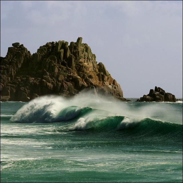 Empty wave - Logan Rock, Porthcurno, Cornwall