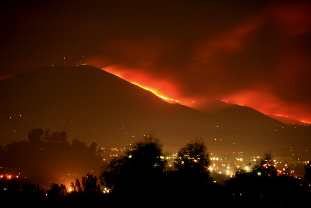 Mt. San Miguel is on fire.  San Diego County wildfires 2007