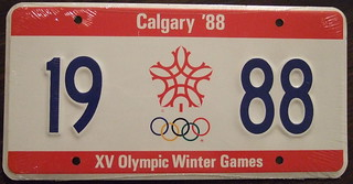 ALBERTA 1988 WINTER OLYMPICS 1988 booster plate | by woody1778a