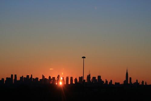sun newyork skyline marriott sunrise dawn manhattan hotelview daybreak