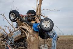 Jeep wrapped around tree in Zion, Arkansas   by wxmandan