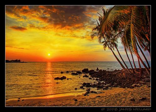 ocean sunset sea seascape beach water palms landscape hawaii coast sand pacific scenic shore bigisland hdr 7xp mywinners anawesomeshot mellard