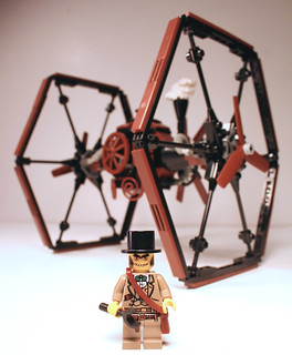 Steampunk TIE fighter | by Fiddybobiddy