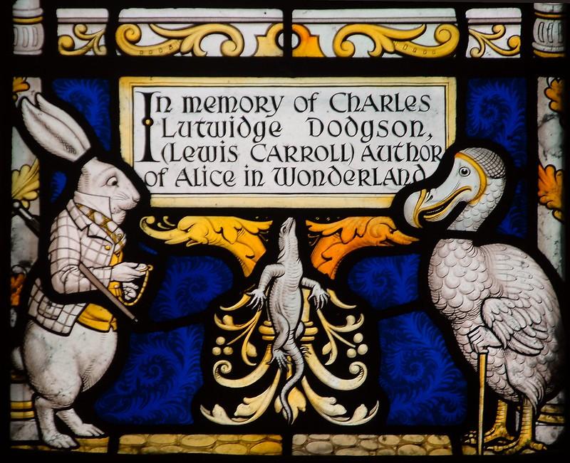 Lewis Carroll glass, Daresbury
