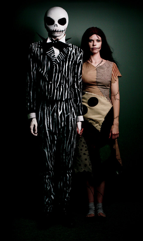 Jack and Sally from the Nightmare Before Christmas Hallowe