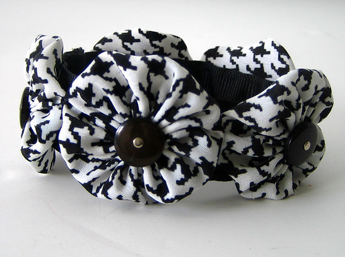 Black and White Snappie Bracelet