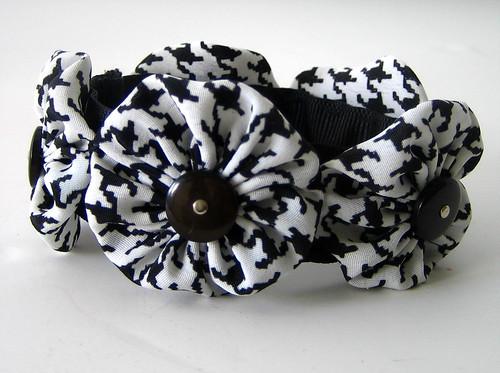 Black and White Snappie Bracelet