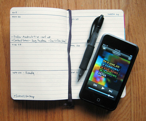 Custom Moleskine Planner & iPod touch | by Mike Rohde