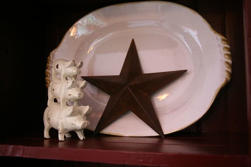 Pigs with Pottery Platter | by A Storybook Life