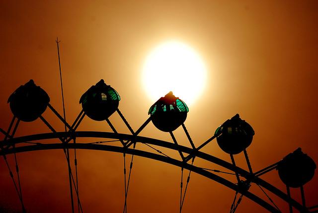 Sunset over the Ferris Wheel