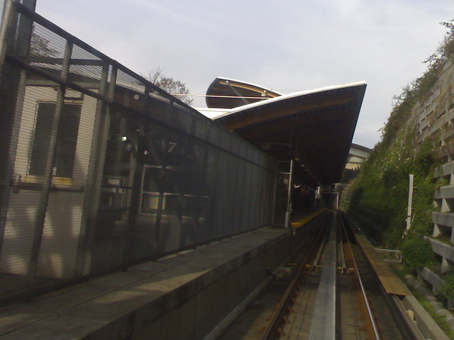 SkyTrain Approaching Commercial Drive Station