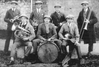 L'orchestre qui animait les bals entre 1925 et 1935 à Orgelet
