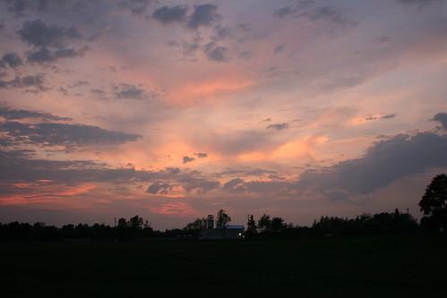 sunset sky clouds canon rebel bangor maine xti