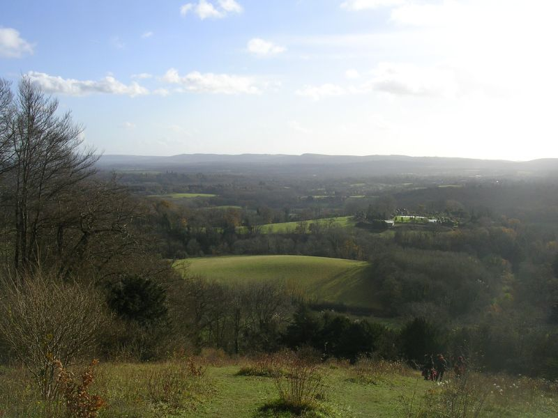 Shoulder of Mutton Hill : view south Petersfield to Liss