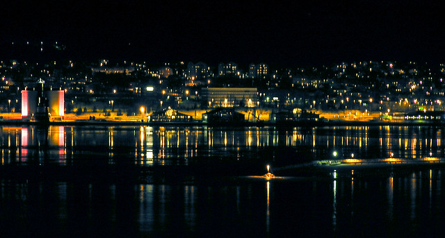 Sundsvall at night 1 (crop suggested by Rachael)