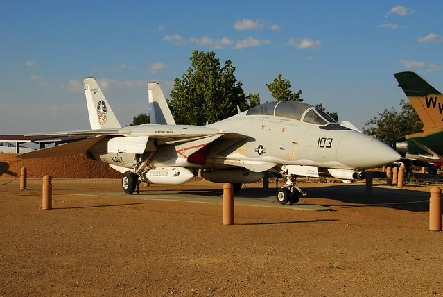 F-14D Tomcat 164350/103 ex U.S.Navy. Preserved, Palmdale Air-Museum, California. 31 May 2016.
