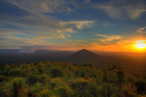 geotagged australia queensland glasshousemountains hdr sunshinecoast panoramix bushfire 10faves mountbeerburrum explore22 geo:tool=gmif geo:lat=26955891 geo:lon=152948999
