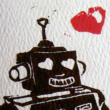 Robot Love Journal - Close-up | by Paper Cuts Studio