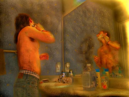 new morning portrait selfportrait me self myself mirror day time action gimp olympus daily shaving fernando reflexion hdr washroom sanchez routine e500 i fernandosanchez qtpfstgui