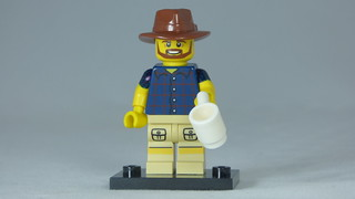 Brick Yourself Custom Lego Figure Aussie Bloke with Coffee | by BrickManDan
