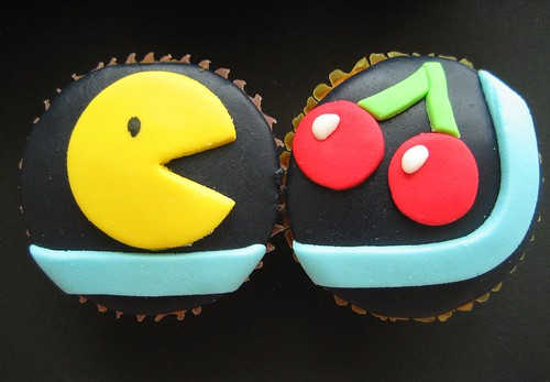 pacman and cherry cupcakes | by hello naomi