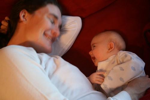 saskia laughing at her mom