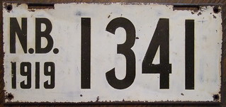 NEW BRUNSWICK 1919 license plate