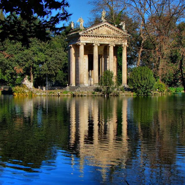 Temple of Asclepius, Villa Borghese Gardens, Rome