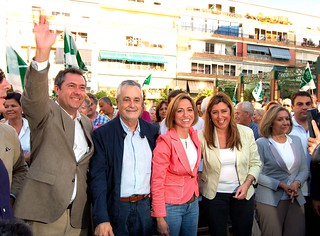 Pepe Griñán, Carme Chacón, Juan Espadas en Alcosa | by PSOE de Andalucía