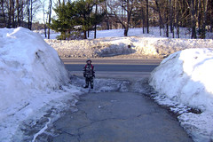 Snow Banks with Reference