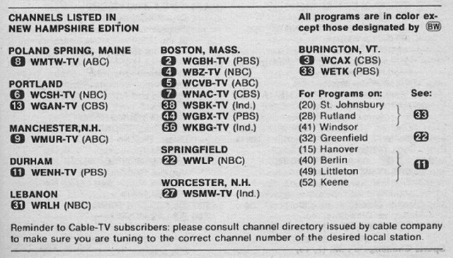 New Hampshire Edition (July 21, 1973) | From my TV Guide col… | Flickr